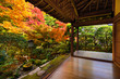 Fall Foliage at Ryoan-ji Temple in Kyoto, Japan