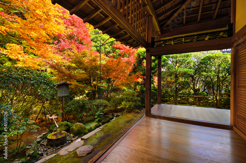 Foto op Canvas Japan Fall Foliage at Ryoan-ji Temple in Kyoto, Japan