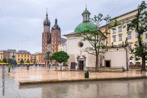 Main square of the old town in Cracow, Poland