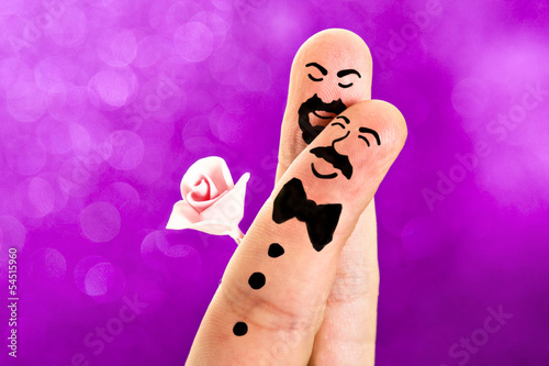 Fingers Painted Gay Wedding