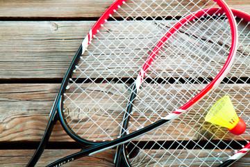 badminton su legno