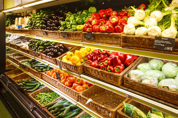 Vegetable section in the department store