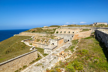 La Mola Fortress of Isabel II at Menorca, Spain