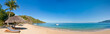 Panoramic tropical beach