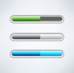 colorful vector set of progress bars