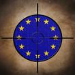 Target on EU puzzle  flag