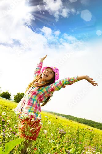 Leinwandbild Motiv bambina felice
