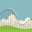 Dollars on Roller Coaster