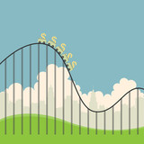 Dollars on Roller Coaster