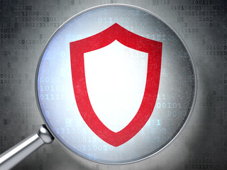 Protection concept:  Contoured Shield with optical glass on digi