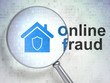 Safety concept: Home and Online Fraud with optical glass