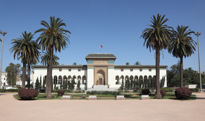 Government building in Casablanca, Morocco, North Africa