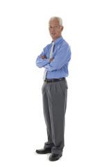 senior asian chinese business man in full body