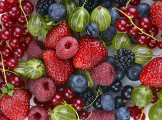 different fresh berries