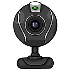 vector black webcam