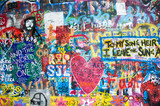 Colorful John Lennon wall in Prague - 54526950