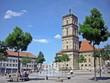 canvas print picture - Stadtkirche Neustrelitz