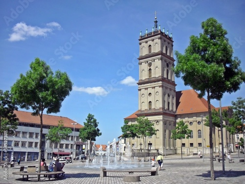 canvas print picture Stadtkirche Neustrelitz