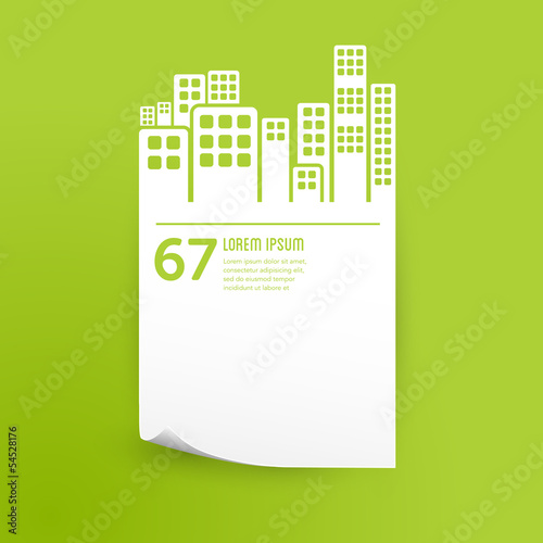 paper graphic design background - city / buildings