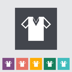 T-shirt single flat icon.