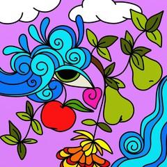 frutta astratta