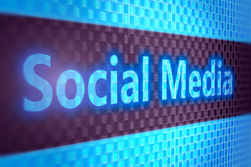 Social media digital background