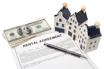 House with rental agreement and cash