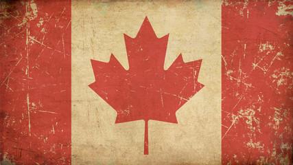 Canadian Aged Flat Flag