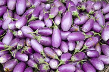 fresh vegetable eggplant in asian market, India