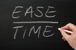 Ease Over Time on a Blackboard