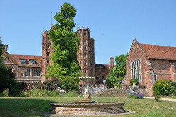 Elizabethan mansion with tower and house