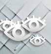 Vector paper eyes modern design