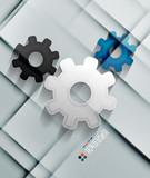 Vector paper gear modern design