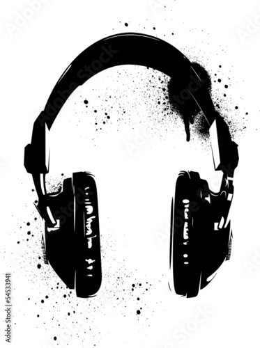 Headphones Graffiti © mcrad
