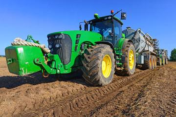 Liquid fertilizer into the soil