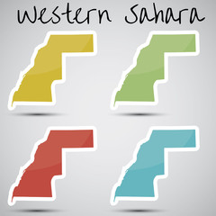 stickers in form of Western Sahara