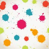Spray paint watercolor seamless pattern.Copy square to the side
