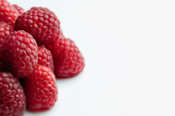 Raspberry - White Background with right side negative space