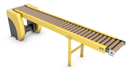 Empty roller conveyor