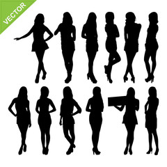 Sexy women silhouettes vector