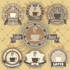 Set of coffee symbol