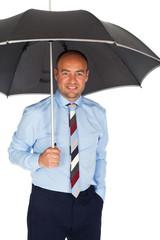 Business mann mit regenschirm