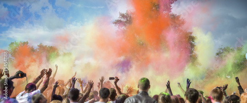 Foto op Aluminium Temple Holi Festival of Colors