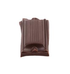 Tasty morsel of dark chocolate.