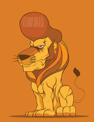 Lion Vector,Fashion hairstyle