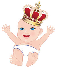 Royal baby. Vector illustration.