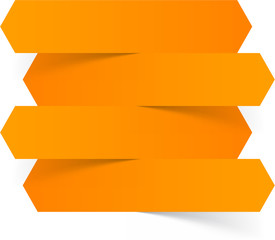 Infographics orange paper design.
