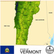Vermont USA counties name location map background