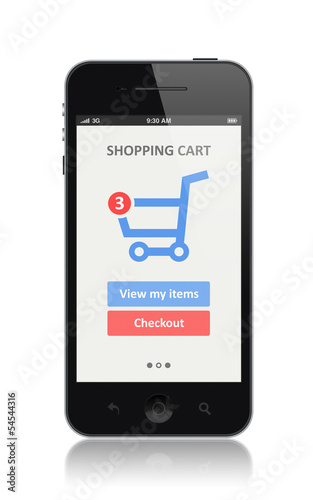 E-commerce app on modern smartphone