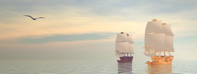 Old ships - 3D Render